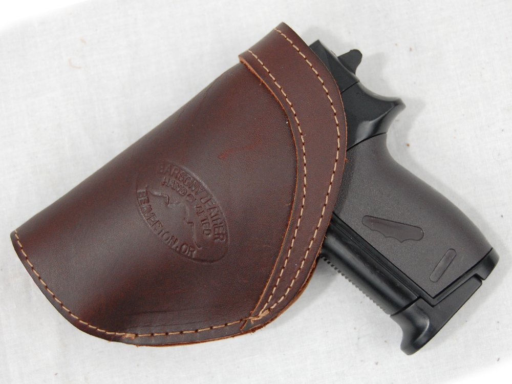Barsony New Brown Leather Inside The Waistband Holster for Mini/Pocket 22 25 380