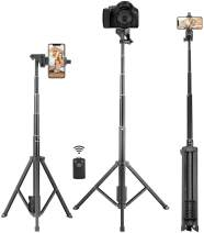 Selfie Stick Tripod, Eocean 54'' Extendable Phone Selfie Stick with Tripod Stand & Wireless Remote for iPhone SE 11 Pro Max X 8 7 6 Galaxy Note 9/S9/Huawei/Google/Xiaomi/Android, Lightweight