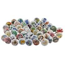 IndianShelf Handcrafted Assorted Pack of 30 Pulls Multicolor Knobs Cabinet Handles Ceramic Knobs Online Designer