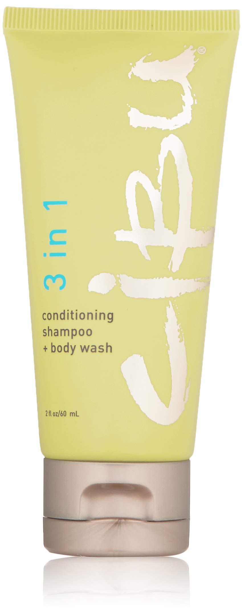 CIBU 3 in 1 Conditioning Shampoo + Body Wash Travel Size, 2 Fl Oz