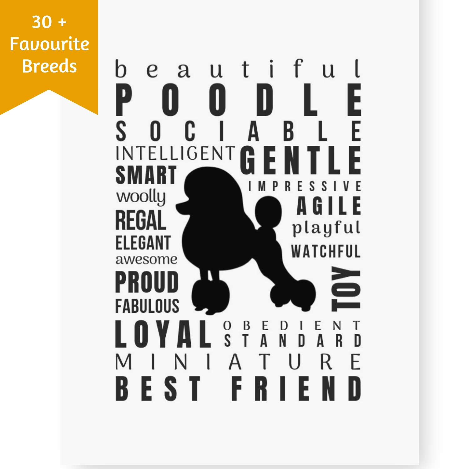 Dog Décor Poodle Wall Art - Quote Print (8x10 Unframed) | Pet Memorial Gifts | Dog Mom Gift | New Puppy Gifts | Keepsake Gifts for Dog Lovers