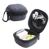 Iksnail Headphone Organizer Bag, Travel Carrying Case Shockproof Portable Storage Pouch for Wireless Earbuds Bluetooth Headphone, USB Flash Drive, USB Cable,Black