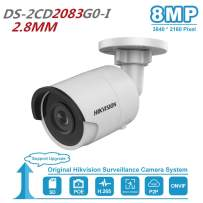 8MP Outdoor IP PoE Bullet Camera DS-2CD2083G0-I 2.8mm 4K Outdoor PoE ONVIF Compatible Security Camera Bullet with SD Card Slot 8 Megapixel Day/Night IP67 Waterproof Video Surveillance Camera