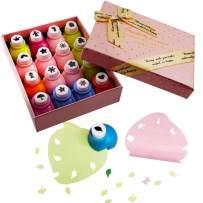 IZTOSS Scrapbooking Paper Punch Set, Decoration Gift Box Punch Craft Set,16 Pack Hole Punch Shapes(Pink)