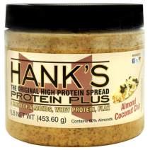 Hank's Protein Plus Almond Butter Protein Spread, Almond Coconut Chip, 1 lb