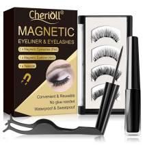 Magnetic Eyeliner, Magnetic Liquid Eyeliner, Magnetic Eyeliner With Magnetic Eyelashes, Waterproof & Sweatproof Magnetic Eyeliner, 3D False Eyelashes & Tweezers, Magnetic Eyelashes No Glue Needed