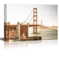 "wall26 Canvas Wall Art - Golden Gate Bridge - Giclee Print Gallery Wrap Modern Home Art Ready to Hang - 32"" x 48"""