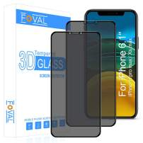 """Privacy Screen Protector for iPhone 11 Pro Max/Xs Max (2 Pack) (Bubble Free), Foval (Full Coverage) Anti Spy (Case Friendly) Tempered Glass Screen Protector with Installation Tray(6.5"""")"""