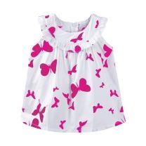 Mud Kingdom Sleeveless Little Girls Dresses Summer Holiday Butterfly
