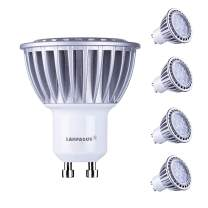 LAMPAOUS GU10 LED Bulbs,7W Light Bulb,6000k Cool White Recessed Lighting Kit,560lm Spot Light,70W Halogen Lamp Equivalent,Non-Dimmable,60° Beam Angle Track Light Downlight,4 Pack