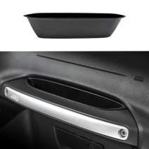 XBEEK Black Center Console Insert Grab Tray Passenger Storage Tray Organizer Grab Handle Storage Box for 2011-2018 Jeep Wrangler JK JKU