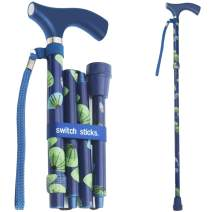 Switch Sticks Walking Cane for Men or Women, Foldable and Adjustable from 32-37 inches, Sea Breeze