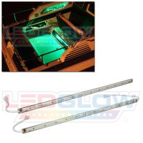 """LEDGlow 2pc Green LED Boat Marine Deck Under Gunnel & Cabin Accent Lighting Kit - 24"""" Waterproof Light Tubes - Screw Cap Connectors with O-Rings"""