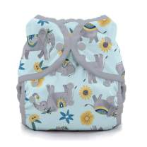 Thirsties Duo Wrap Cloth Diaper Cover, Snap Closure, Elefantabulous Size Two (18-40 lbs)