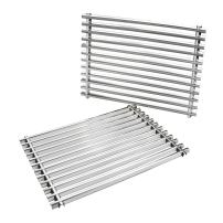 onlyfire Cooking Grill Grid Grates Stainless Steel Rectangle (11.25'' x15'' x0.37'') for Weber 7521 Set of 2