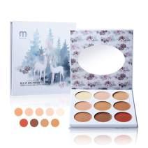 CCbeauty Cream Foundation Concealer Blemish Contour Palette Makeup Highlighter Dark Circles Acne Spot Remover 9 Color Palette