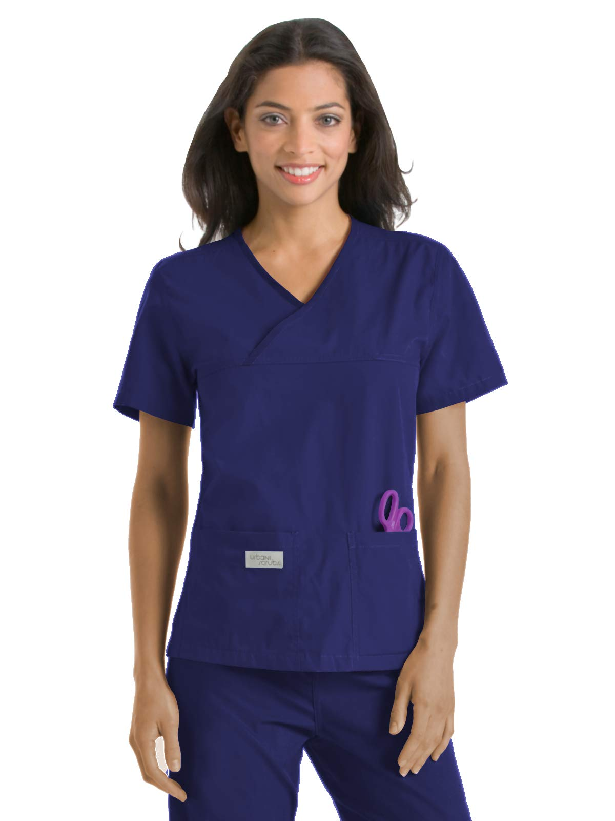 Landau Urbane Scrubs 9534 Women's Double Pocket Crossover Top