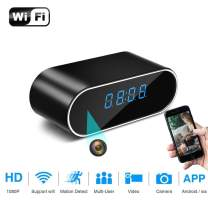 Spy Camera, 1080P Hidden Camera Clock WiFi Video Recorder 140° Wide Angle Lens Wireless IP Cameras for Indoor Home Security Monitoring Nanny Cam with Night Vision Motion Detection 2020 Version