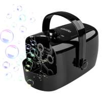 Glonova Party Bubble Machine Powered by Plug-in or Batteries, Two Bubbles Blowing Speed Levels, Pro Bubble Blower Machine for Halloween Christmas Bubble Maker with High Output, 13.5 oz Capacity