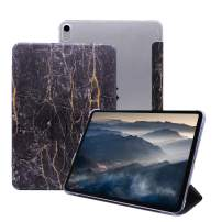 CLARKCAS for iPad Pro 12.9 Case Marble,[Auto Wake/Sleep] Tri-Fold Lightweight Slim Protective Cover for 2018 iPad Pro 12.9 inch 3rd Generation (Latest Model)_ Black