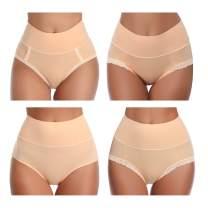 Ceseboo Womens Underwear,High Waist No Muffin Top Full Coverage Underwear for Womens