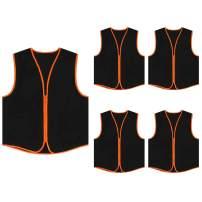 TOPTIE Supermarket Apron Zipper Vest for Clerk Uniform Vest(5 Packs)
