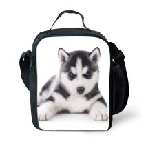 Amzbeauty Dog Lunch Box for Kids Cute Small Insulated Reusable Square Lunch Bag