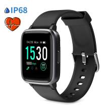 """Glymnis Smart Watch Fitness Tracker IP 68 Waterproof Fitness Watch Activity Tracker with 1.3"""" Full Touch Color Screen with Heart Rate Monitor Sleep Monitor Step Calorie Counter (Black)"""
