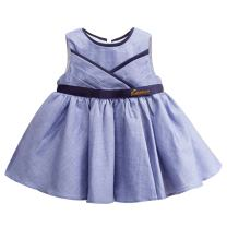 White Toddler Dress Baby Girl A Line Skirt Infant Floral Clothes Pleated Skirt Outfit for Christine