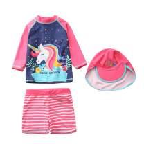 Baby/Toddlers/Girls One Piece Unicorn Swimsuit Bathing Suit Beach Rash Guard Kids Beach Swimwear