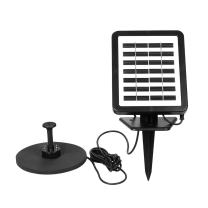 Decdeal Solar Fountain Pump with LED Lighting, 1.5W Floating Solar Panel Submersible Water Pump Kit, Battery Backup, for Bird Bath Garden Pond