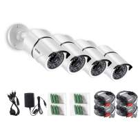 ZOSI 4 Pack 1080P 2.0MP Outdoor Indoor 3.6mm 36PCS Infrared IR Lens Day Night CCTV IR Cut Surveillance Security Camera Compatible for TVI DVR