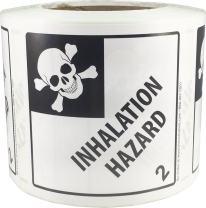 Hazard Class 2 D.O.T. Inhalation Hazard Labels 4x4 Inch Square 500 Adhesive Labels