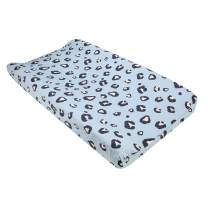 UOMNY Changing Pad Cover 100% Natural Cotton Soft Mini Crib Sheets for Boys and Girls 1 Pack 32×16 Inch Unisex Change Pad Sheets Blue Leopard