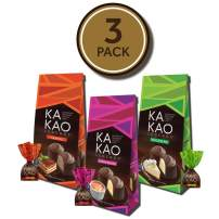 Easter Dark Chocolate Dessert Truffles Assortment (3-Pack Bags) - 36 Individually Wrapped Chocolates - Creme Brulee, Key Lime Pie & Tiramisu | Smooth & Creamy Dessert Filling