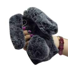 for Galaxy S10 Fur Case for Girls,Jesiya Luxury Cute Toy Warm Handmade Rabbit Bunny Furry Fuzzy Soft Rabbit Fur Hair Plush Case Cover for Samsung Galaxy S10