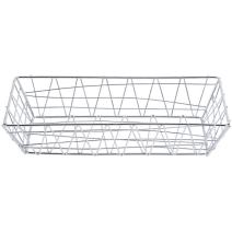 "American Metalcraft ROC1362 Baskets, 13"" Length x 6"" Width, Chrome"