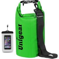 Unigear Dry Bag Waterproof, Floating and Lightweight Bags for Kayaking, Boating, Fishing, Swimming and Camping with Waterproof Phone Case