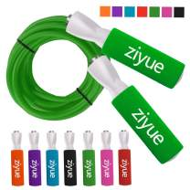 ziyue Jump Rope Speed Crossfit Weighted Workout for Boxing MMA Fitness Training Men, Women, and Kids