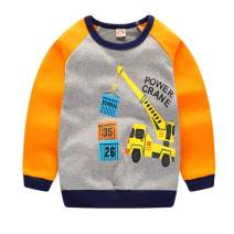 Frogwill Toddler Boys Excavator Long Sleeve Cartoon T Shirt Size 2-7 Years