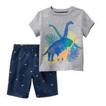Boy's Clothes Set Summer Cotton T-Shirt and Shorts 2 Pieces 2T-7T
