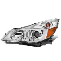 DNA Motoring OEM-HL-0081-L Factory Style Chrome Driver Side Projector Headlight Replacement For 10-14 Outback Legacy