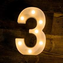 Foaky LED Number Lights Sign Light Up Number Lights Sign for Night Light Wedding Birthday Party Battery Powered Christmas Lamp Home Bar Decoration (3)