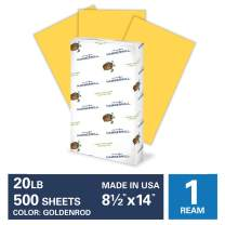 Hammermill Goldenrod Colored 20lb Copy Paper, 8.5x14, Legal Size, 1 Ream, 500 Total Sheets, Made in USA, Sustainably Sourced From American Family Tree Farms, Acid Free, Pastel Printer Paper, 103150R
