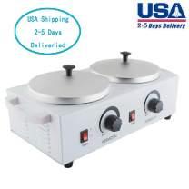 Lolicute Double Wax Warmer,Double Wax Warmer Professional Electric Heater Dual Hard Hot Facial Skin Equipment SPA 110V USA Shipping