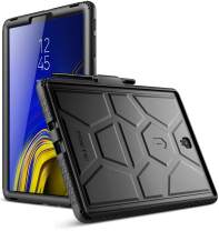 Galaxy Tab S4 10.5 Case, Poetic TurtleSkin Series [Corner/Bumper Protection][Grip][Bottom Air Vents] Protective Silicone Case for Samsung Galaxy Tab S4 10.5 Inch (2018) - Black