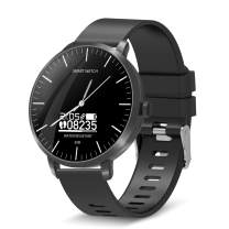 BingoFit Surf Smartwatch Touchscreen Smartwatch Sport Smart Watch Quartz Analog Smart Watch for Men Women 50M Water-Resistant Fitness Activity Tracker Watch for Android Phones&iPhone