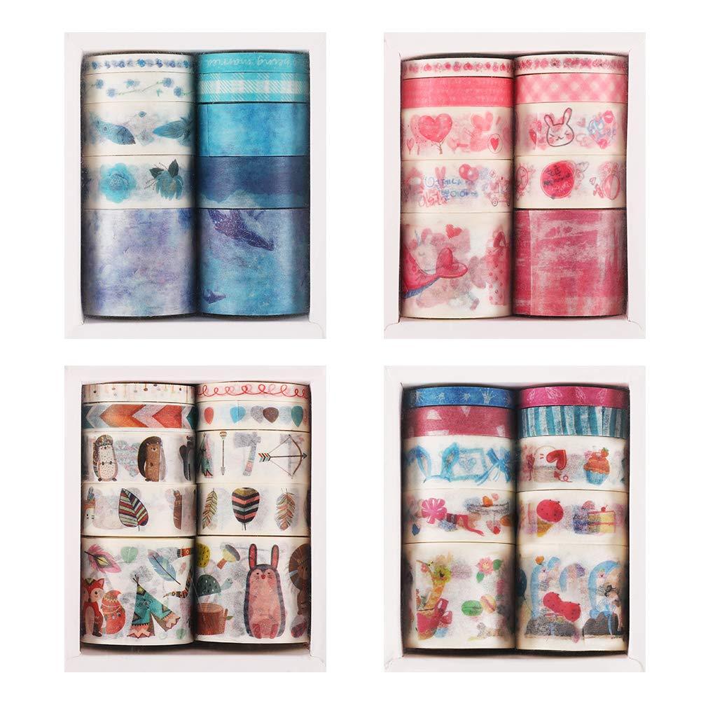Tape Storage Box Beige Craft Multi Roll Paper Tape Organizer//Holder 2 Pack Desktop Tape Dispenser Washi Tape Cutter