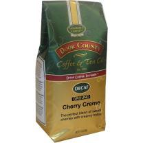 Door County Coffee, Cherry Crème Decaf, Flavored Coffee, Medium Roast, Ground Coffee, 10 oz Bag