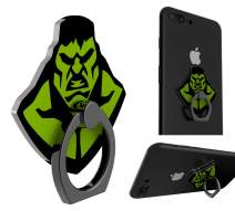 Cell Phone Ring Holder Finger Stand Universal Aluminum Alloy Strong Sticky Kickstand Nice Grip Freely Rotate Fold for All Smartphones and Tablets (Hulk, 1 Pack)